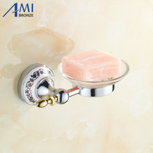 Chrome stainless steel Soap Dishes Disk holder Bathroom Accessories wall mounted Sanitary wares 7005CSP
