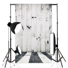 Maytir 1pc High Quality Wood Floor background Raw Silk Cloth Black White Wood Photography Backdrop Studio Prop 0.6*0.9m(China)