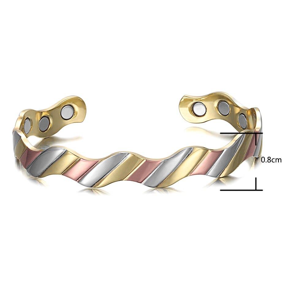 Copper Magnet Healthy Bio Energy Bracelets Bangles  (12)