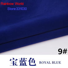 9# blue Flocked flocking Fabric for DIY sewing skirt Sofa Pillow Cushion Toys Bags clothes material(150*100cm)(China)