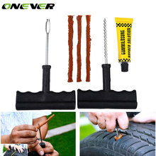 Onever Auto Car Tubeless Tire Repair Tools Kit Set Bike Auto Tubeless Tires Tyre Puncture Plug Tire Repair Kit Tool Accessories(China)