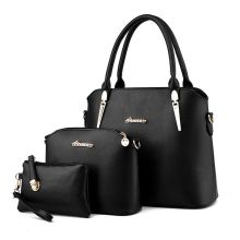 Hanup New 2016 Women Handbags Leather Handbag Women Casual Bags Ladies Brand Designs Bag Handbag+Messenger Bag+Purse 3 Sets(China)