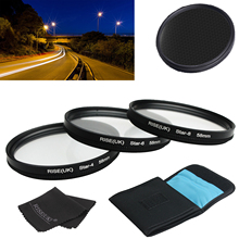 58MM 4 6 8 Point Star Filter Kit for Canon EF 18-55mm 50mm 85mm Camera Lens