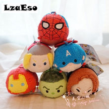 Tsum Tsum Marvel Mini Plush Soft Toys Spider-man Thor For Bouquets 9*5*6 CM Brinquedos cheap Children Toys