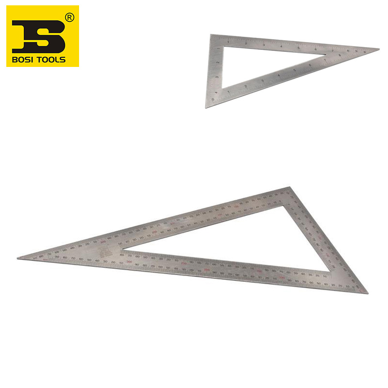 free shipping BOSI 20x40cm 2Cr13 stainless steel triangle square Metric &amp; Inch double side<br><br>Aliexpress