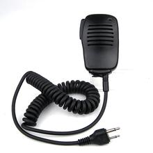 Portable Mini Speaker Mic Microphone PTT for Midland Two Way Radio 75-501 75-510 75-785 for Cobra Walkie Talkie HH37ST FRS90(China)