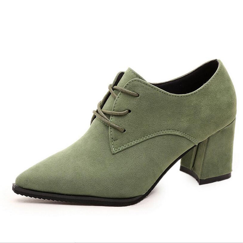New Arrival Women Shoes Lace Up Spring Oxfords Ladies Pumps High Heels Casual Shoes Sexy Female Shoe Heel Sapato Feminino<br><br>Aliexpress