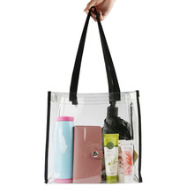 2017 New Large Capacity Ladies Tote Bag PVC Women Handbag Shoulder Bags Fashion Transparent Beach Shopper Bag Bolsas 2B0130