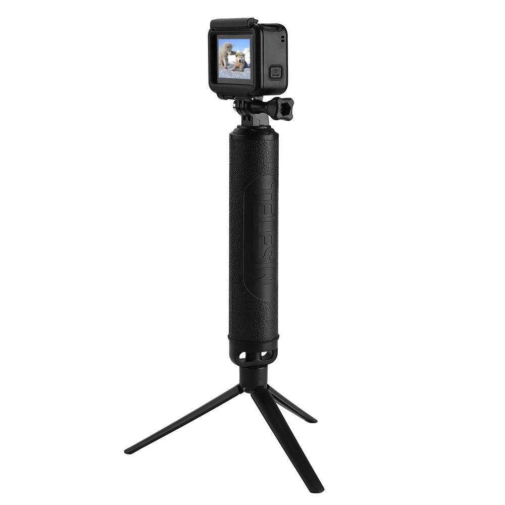 TELESIN Waterproof Selfie Stick Long Floating Hand Grip 3-Way Grip Arm Monopod Pole Tripod for GoPro Xiaomi YI SJCAM EKEN Camera
