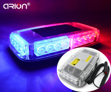 CIRION 24 LED 24W Car Strobe Light Mini Bar Roof Dash Windshields Emergency Truck Red Blue Lightbar Lamp Free Shipping(China)