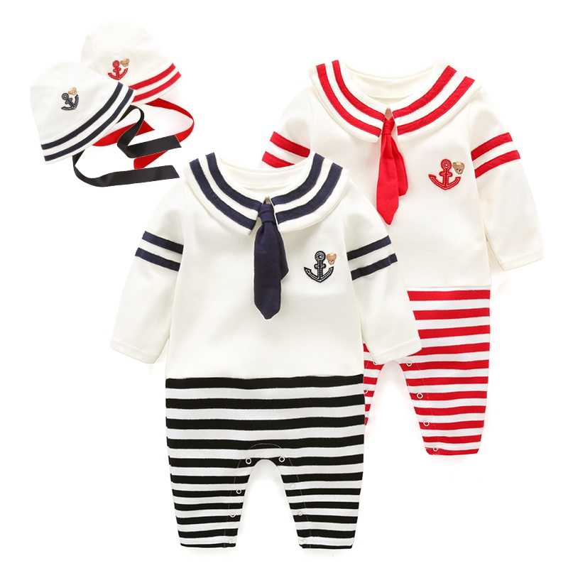 The newborn romper baby clothes Navy infant bodysuits spring<br><br>Aliexpress
