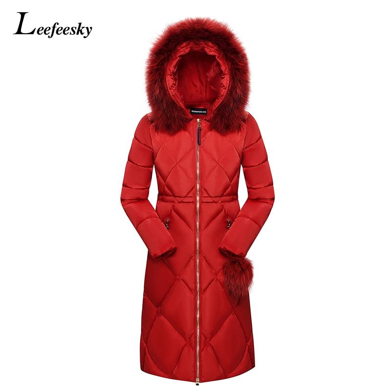 2017 Winter Women Hooded Coat Fur Collar Thicken Warm Long Jacket Female Plus Size 3XL Outerwear Parka Ladies Chaqueta CoatsÎäåæäà è àêñåññóàðû<br><br>