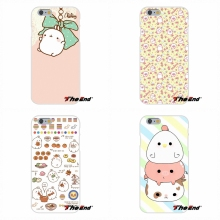 Kawaii Molang Rabbit Retail New Fashion Silicone Soft Case For Samsung Galaxy S3 S4 S5 MINI S6 S7 edge S8 Plus Note 2 3 4 5