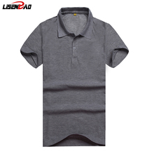 LiSENBAO DIY logo Men's Polo Shirts Summer Style Men Cotton Short Sleeve shirt  jerseys tennis For Men Polos Plus Size S- 3XL