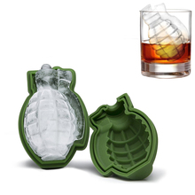 3D Grenade Ice Cube Mold Shape Army Green Fun Lovely Ice Tool Kitchen Decorating Tool Ice Cream Making Molds Silicone Ice Mold