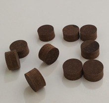 Free shipping 10pcs/lot brown 14mm billiard pool cue tip 8layers pigskin leather tip can Customize LOGO high quality