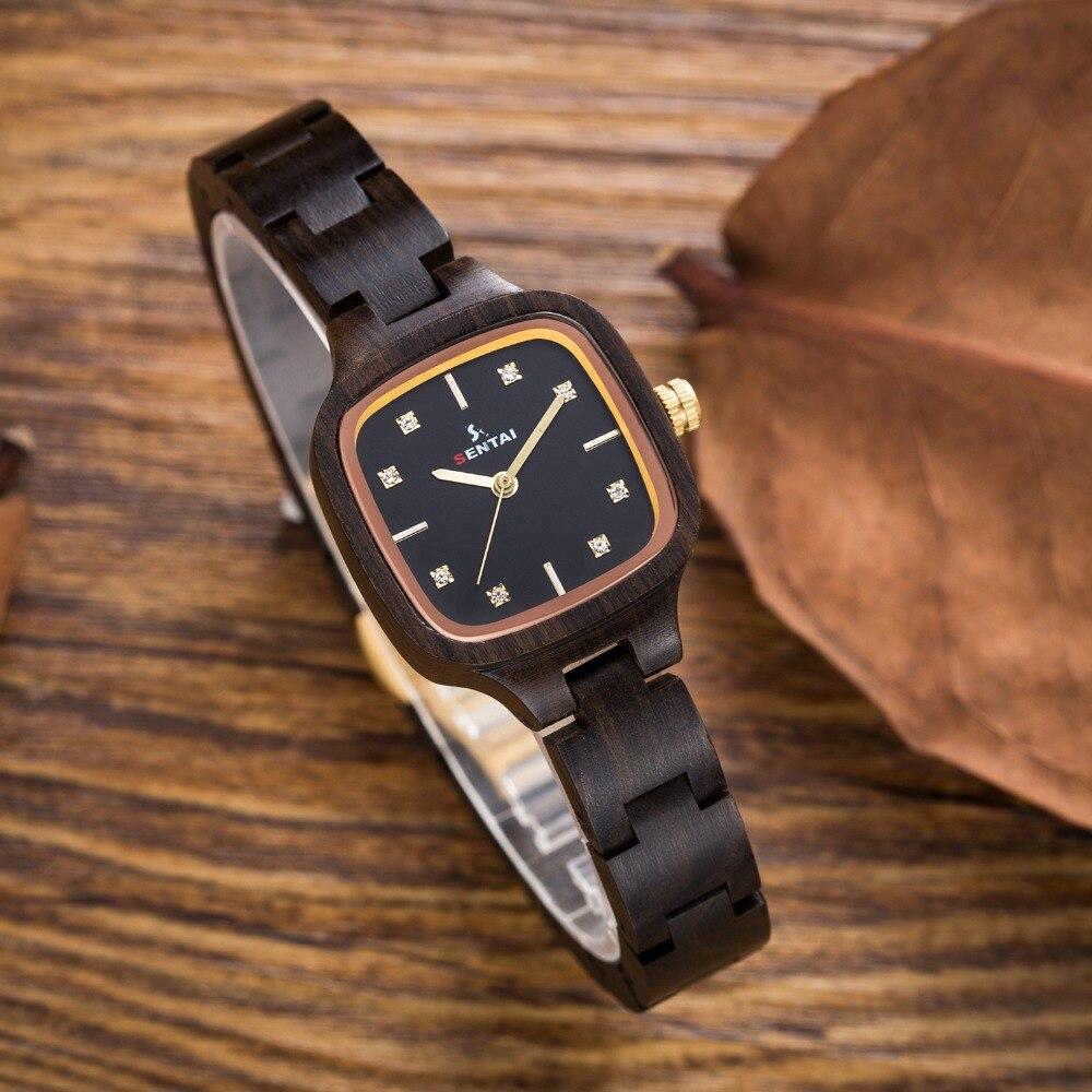 Quartz Wristwrist New Fashion Gift Natural Wooden Watches woman Creative Sport Bracelet Analog watch Female Clock relogio femini<br>