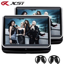 XST 2PCS 10.1 Inch Touch Screen Car Headrest Monitor DVD Player HD 1080P Video USB SD Card Digital Speaker FM IR Transmitter(China)
