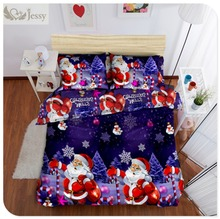 High Quality 100% Polyester Christmas Gift 3Pcs/4Pcs Christmas Bedding Set Duvet Cover Bed Sheet Pillowcase Twin Full Queen King