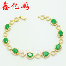 18K gold natural emerald Bracelet