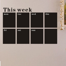 53X78 Week Plan Calendar Chalkboard MEMO Blackboard Vinyl Wall Sticker