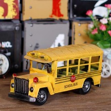 2017 Vintage Yellow School Bus Vehicles Model Car Metal Kids Toys Collection Education Best Gifts For Children Toy Car