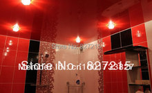 Red Glossy Ceiling Film with LED bulbs /Functional and reflective as a mirror