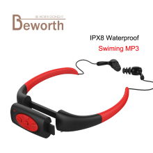 8GB Waterproof MP3 Music Player Underwater Swim Surfing Diving Neckband Sports Stereo Earphone Spa Surf Scuba Handsfree FM Radio