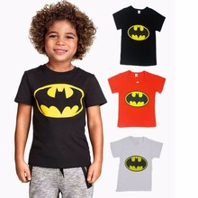 Summer Children T-Shirts T Shirt Batman Cotton Short Sleeve For Boys  Print Boys Tee Fashion Kids Tops Boys Clothing