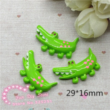 Wholesale 50pcs resin flat back crocodile Resin Cabochon Flat Back Scrapbooking crafts