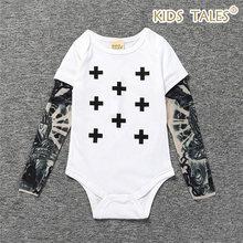 New Born Baby Bodysuit Long Sleeve Tattoos Print Jumpsuit Baby Boy Clothes  Girl Fashion Newborn Body a964917d8eae