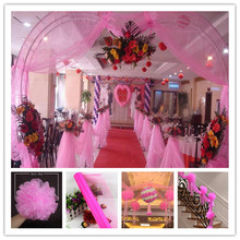 Transparent yarn gauze 72CM * 10M crystal yarn flower heart arches happy door wedding decorations party activities 5zSH015-2