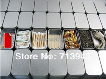 Size:94x59x21mm silver rectangle tin box/plain metal box/small tin box/mint tin box without printing(China)