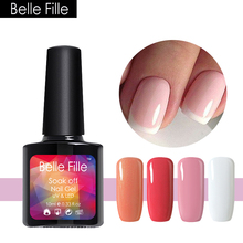Belle Fille 10ML Nail Gel Polish Soak Off Watermelon Red Color Manicure Gel Nail Polish Art Design Hot Colors Beauty Art DIY(China)