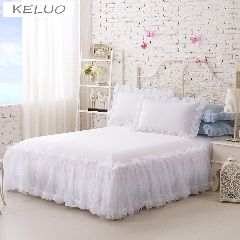 100cotton solid color lace luxury bedding sets king size queen bed sets for girl - Bedspreads King Size