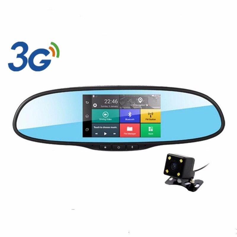 3G 5 Android Rearview Mirror Car DVR GPS Navigation Bluetooth Wifi Dual Lens Car Camera Recorder Full HD 1080P Dash Cam Rom 16G<br><br>Aliexpress