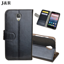 Prestigio Grace S5 LTE PSP5551 DUO 5551 Wallet Cover Luxury Leather Case Protective J&R Mobile Phone Bags & Cases With Card Slot