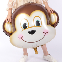 Cute Monkey Balloon, Cartoon Foil Birthday Party Balloon Airwalker Ballons for Kids Baby Toys Party Decorate Balls for Holidays