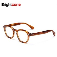 Brightzone High Quality Vogue Vintage Full Unisex Acetate Optical Frame Eyeglasses Spectacles Frames Prescription Glasses Oculos(China)