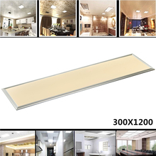 Rectangle LED Panel Light 1200X300 42W Cold Warm White AC110-240V Home Office Decoration Aluminum Frame Faceplate Ceiling Lamp