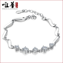 Only Huayin jewelry silver bracelet female guardian 1314925 simple cute Sterling Silver CZ hypoallergenic gift(China)