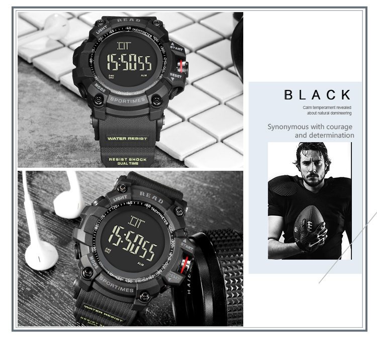 luxury brand READ LED digital wristwatches for men waterproof shock resist military watch free shipping 2018 (18)