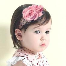 ON SALE 1PCS 2016 Children's hair accessories baby Flower Headband elastic hair band Infant Newborn photo props Lace head band
