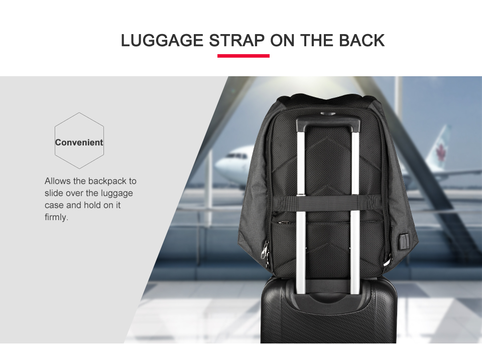 16.laptop backpack anti theft