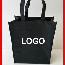 (500pcs/lo)t size 32x38x10cm Custom shopping bag with brand company logo printed as advertisement gift promotional bag(China)