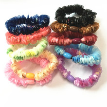 10 Pcs/lot Cloth fabric Wrap Girls' Bright Color Hair ties Hair Bands Women Hair accessories
