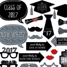 Tronzo 20pcs/set Graduation Party Decoration Photo Booth Props Paperboard Bachelor Cap Certificate Party Photo Props Decor 2017(China)
