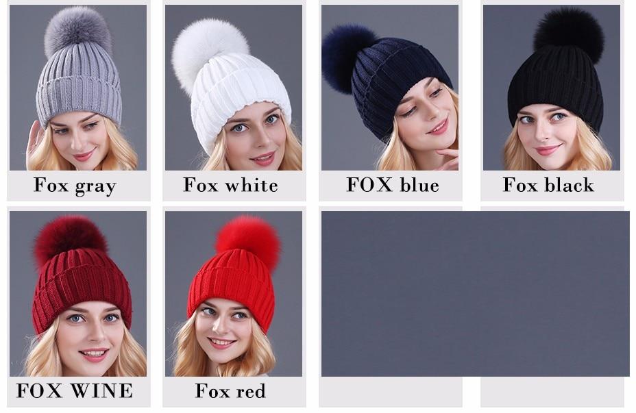 قبعات صوفية  بالوان مختلفة 1