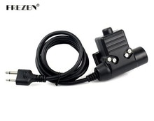 U94 PTT Cable Plug Military Adapter Z113 Standard Version for ICOM IC-F21 IC-F10 two way radio A38 Hunting