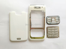 White new full housing cover case with keypads replacement for Nokia E65,Free shipping